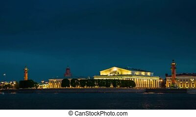 Evening view of the the State Hermitage Museum in St....