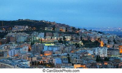 Evening view of Tivoli. Italy