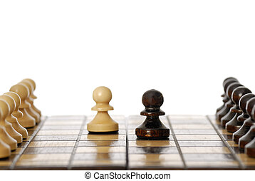 Evenly Matched. Two Pawns.