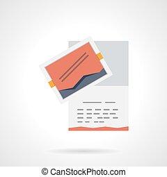Event agency brochure flat color vector icon