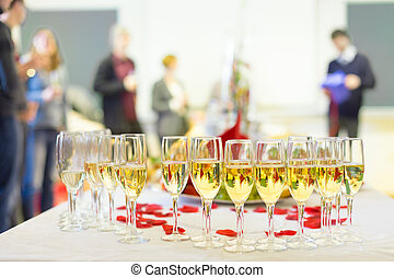 event., champagne, table., banquet