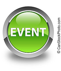 Event glossy green round button