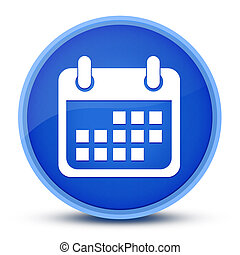 Event icon isolated on special blue round button abstract