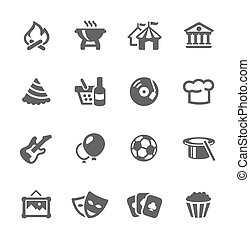 Event icons - Simple set of events related vector icons for ...