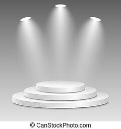 event., scheinwerfer, hintergrund., licht, siegerpodest,...