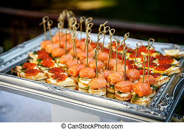 event., service., レストラン, 食物, ケータリング, テーブル