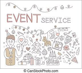 Event Service. Vector Illustration