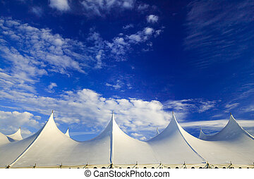 Event tent, Stowe, Vermont, USA - Top of a large event tent...