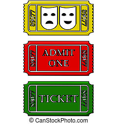 Event tickets - Cartoon illustration showing tickets for the...