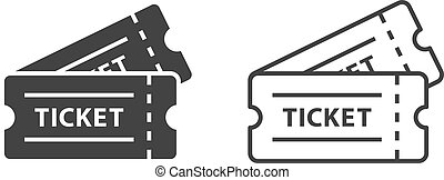 event tickets vector icons