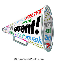 Event Word Bullhorn Megaphone Advertising Marketing Special...