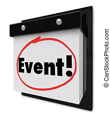 Event Word Circled Calendar Special Party Reminder - Event...