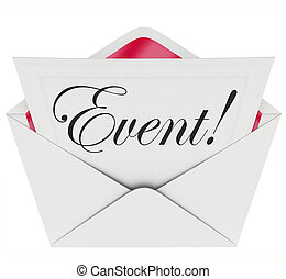 Event Word Invitation Envelope Special Access VIP Admission...
