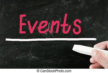 eventi, concetto