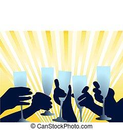 evento, brinde