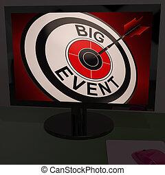 evento, grande, esposizione, monitor, concerti