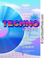 evento, stile, ballo, manifesto, albero, vaporwave, clubbing...
