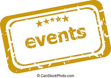 eventos, selo, isolado, branco, fundo