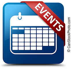 Events (calendar icon) blue square button red ribbon in corner