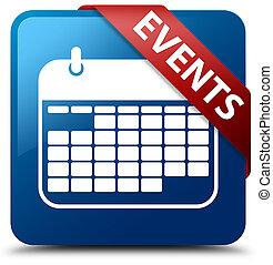 Events (calendar icon) blue square button red ribbon in corner