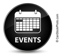 Events (calendar icon) elegant black round button