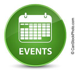 Events (calendar icon) elegant soft green round button