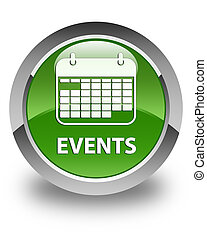 Events (calendar icon) glossy soft green round button