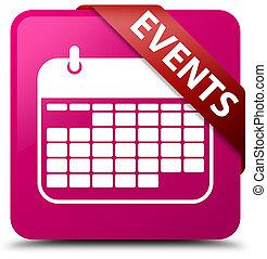 Events (calendar icon) pink square button red ribbon in corner