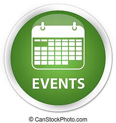 Events (calendar icon) premium soft green round button