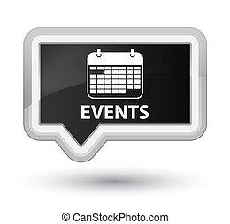 Events (calendar icon) prime black banner button