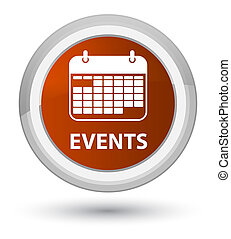 Events (calendar icon) prime brown round button