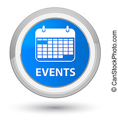 Events (calendar icon) prime cyan blue round button