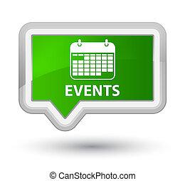 Events (calendar icon) prime green banner button
