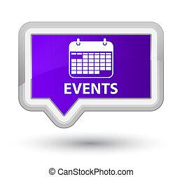 Events (calendar icon) prime purple banner button