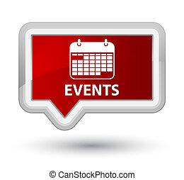 Events (calendar icon) prime red banner button