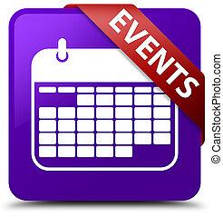Events (calendar icon) purple square button red ribbon in corner