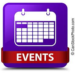 Events (calendar icon) purple square button red ribbon in middle