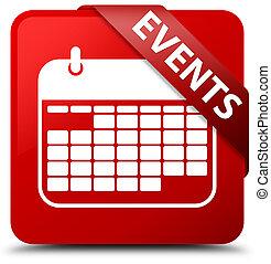Events (calendar icon) red square button red ribbon in corner