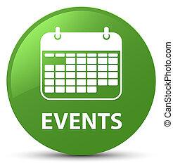 Events (calendar icon) soft green round button
