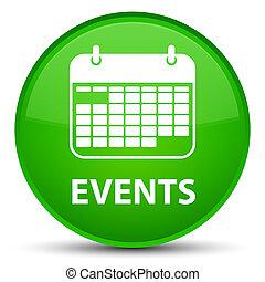 Events (calendar icon) special green round button