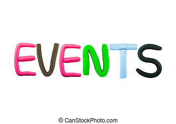 Events , clay on the white background