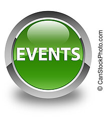 Events glossy soft green round button