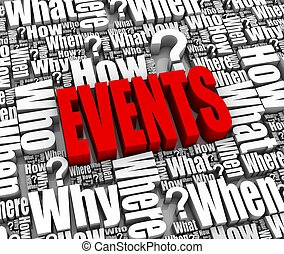 Events - Group of event related 3D words. Part of a series.