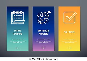 Events planning, Statistical analysis, Solutions Vertical...