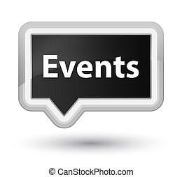 Events prime black banner button