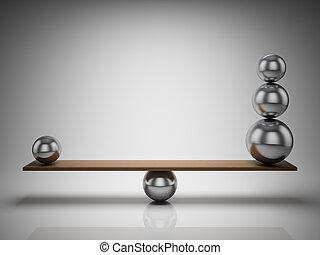 evenwicht, bal