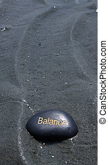 evenwicht, black , rots