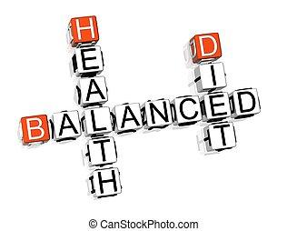 evenwichtig dieet, kruiswoordraadsel