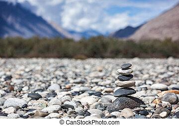 evenwichtig, stenen, zen, stapel