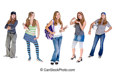 Ever Changing Teens - A young teenage girl with a constantly...